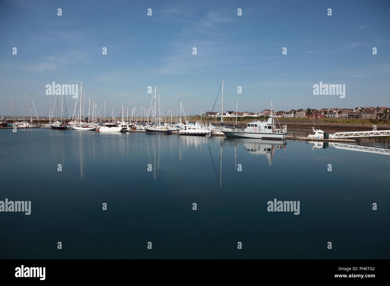Boats in Kirkwall harbour, Orkney, Scotland - Stock Image