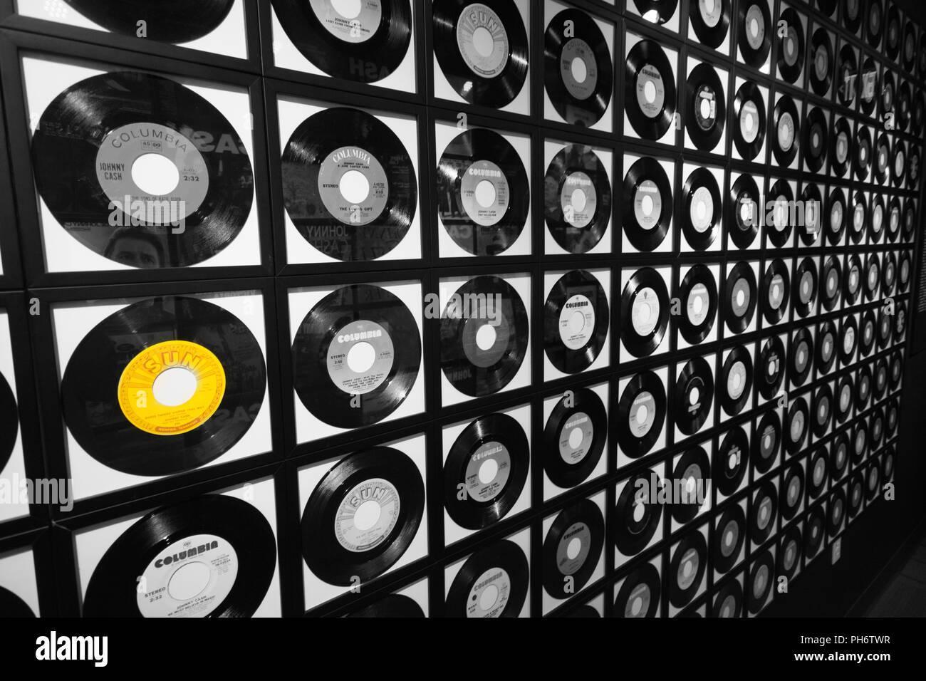 Vinyl Record Collection - Stock Image