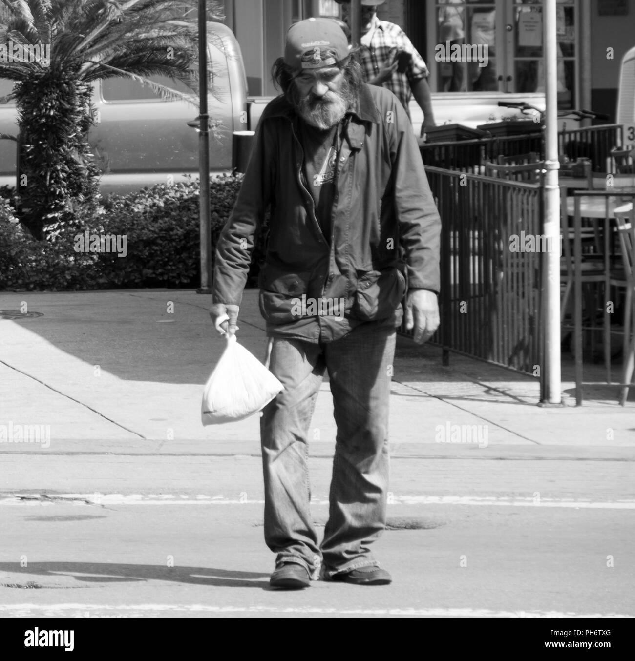 Homeless Man - Stock Image