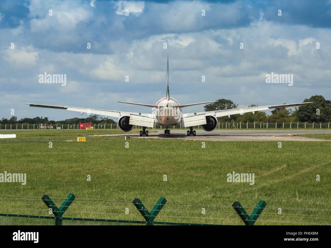 Dublin Airport landings and departures. - Stock Image