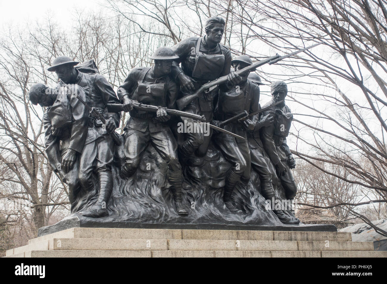 107th Infantry memorial in Central park Manhattan New York City - Stock Image