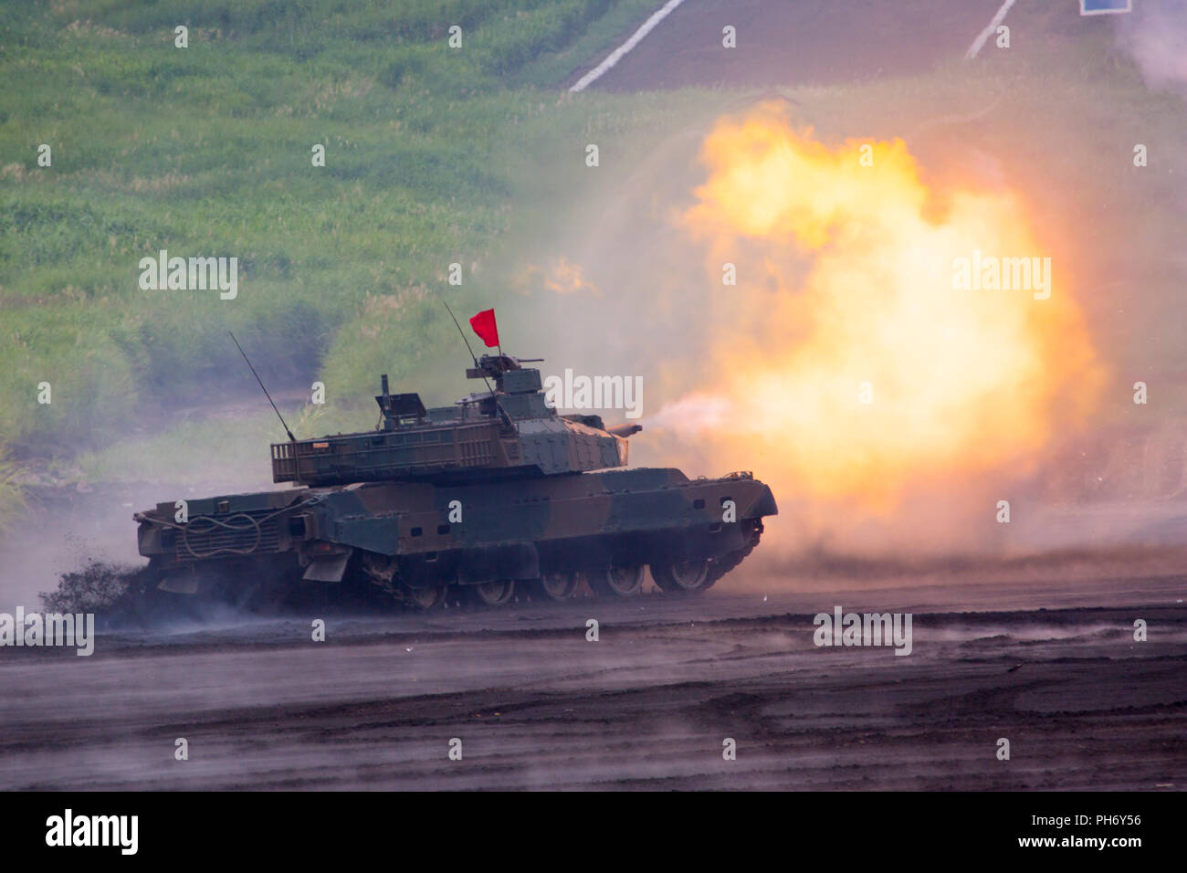 b41550dc4109 Type 90 Tank Japan Ground Stock Photos   Type 90 Tank Japan Ground ...