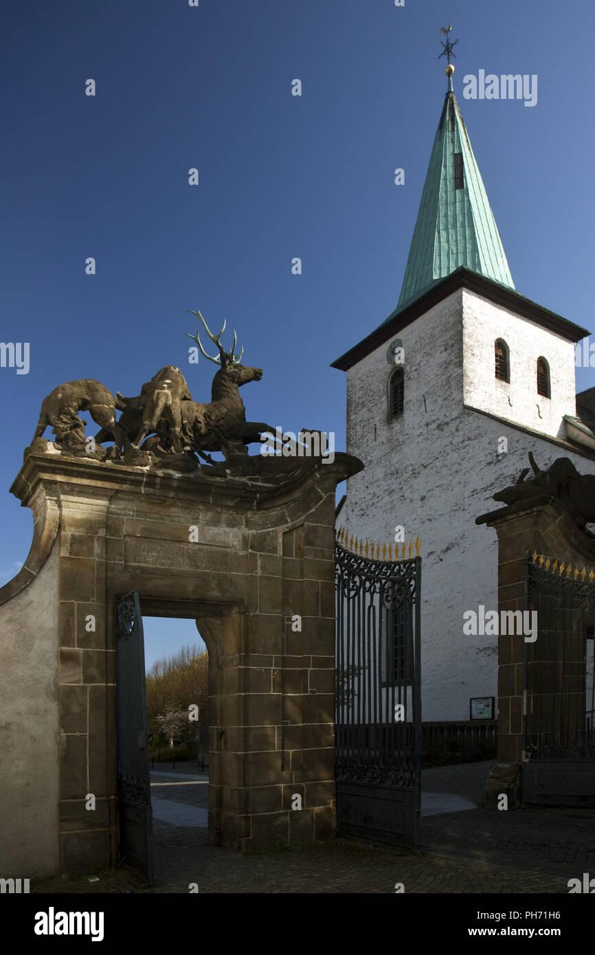 The Jeleniogórska gate in Arnsberg in Germany. - Stock Image