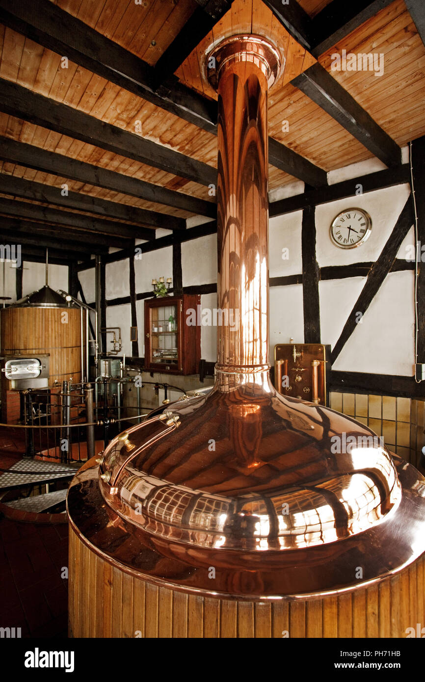 In the Domschänke in Eslohe beer is brewed. - Stock Image