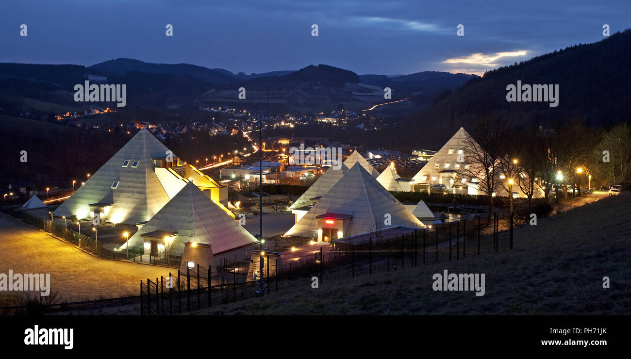The Sauerland Pyramids in Meggen in Lennestadt. - Stock Image