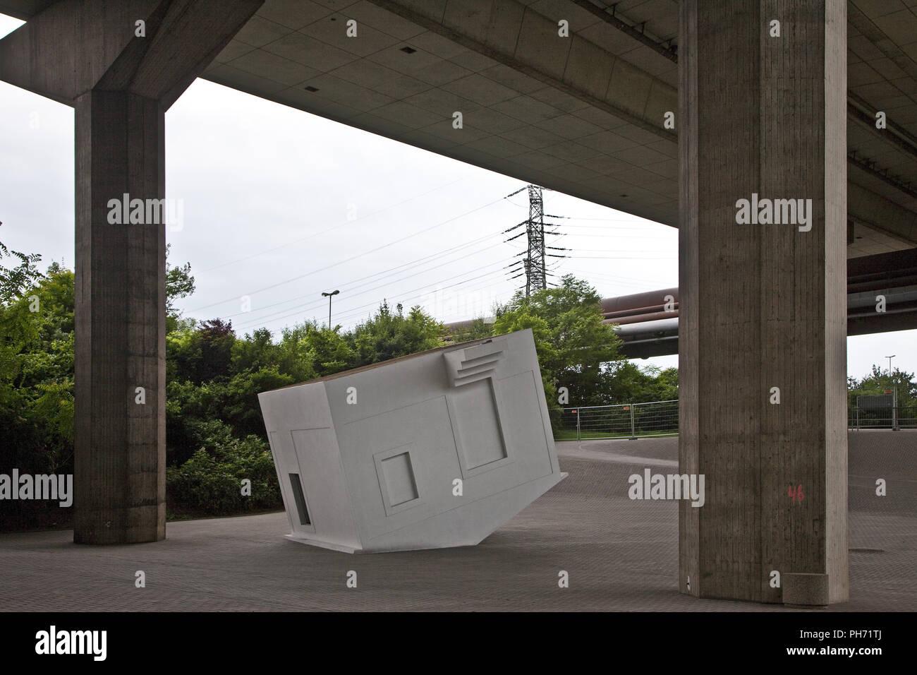 Artwork Vertigo, Emscherkunst, Duisburg, Germany. - Stock Image