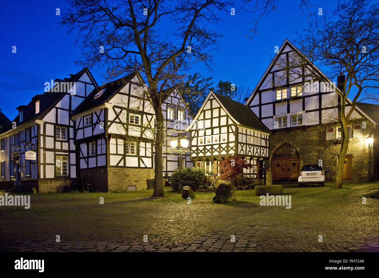 Five gable corner, Freiheit, Alt Wetter, Germany. - Stock Image
