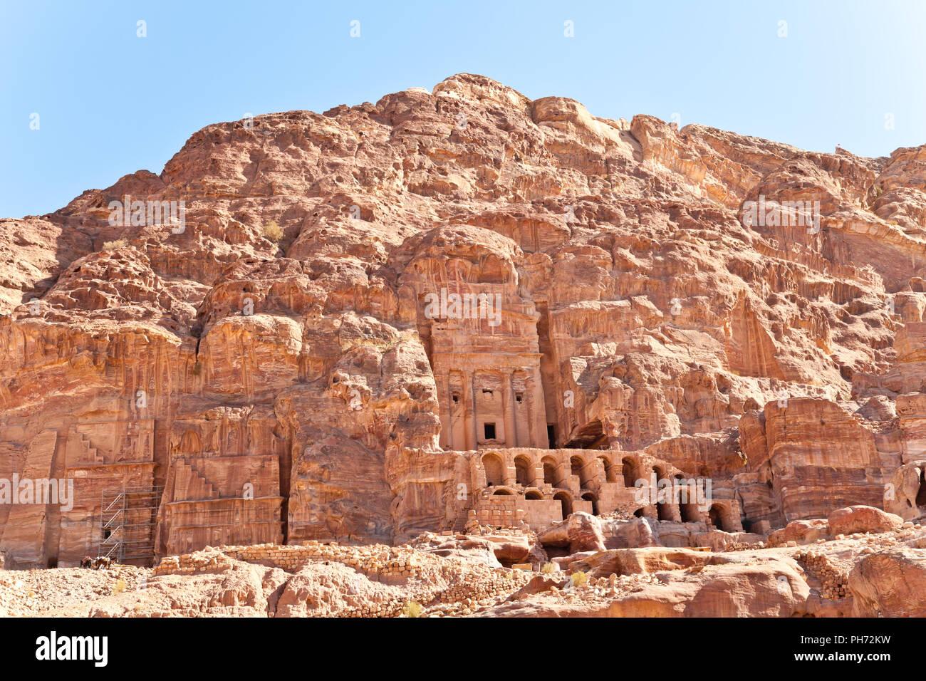 Urn tomb, petra, jordan Stock Photo
