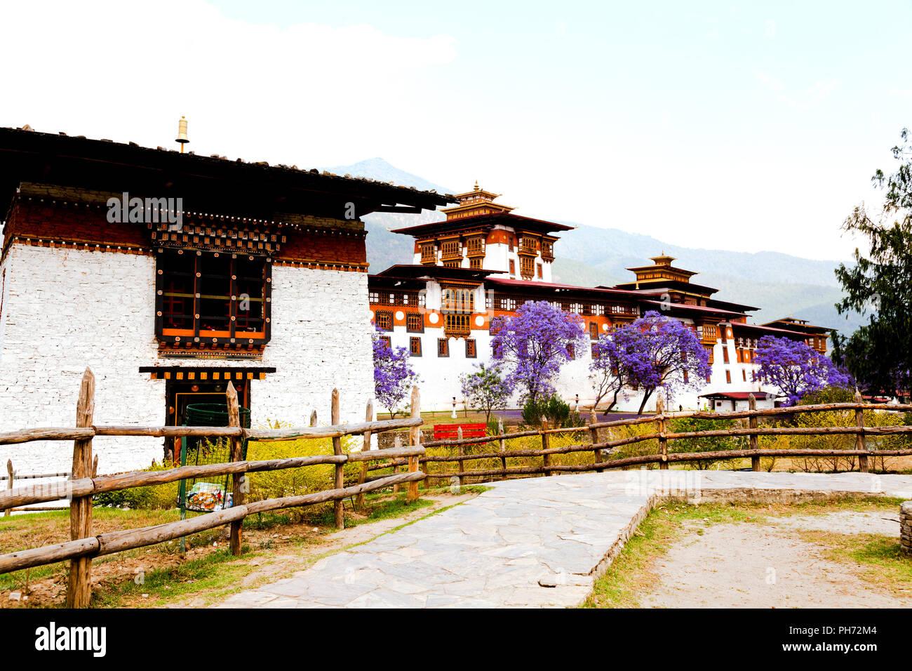 Punakha dzong - Stock Image