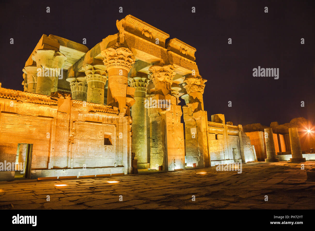 Temple of sobek and horus Stock Photo