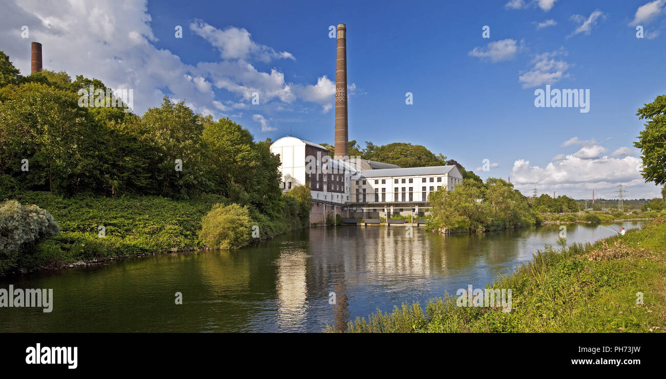 Horster Muehle, mill on the Ruhr river, Essen, Ger - Stock Image