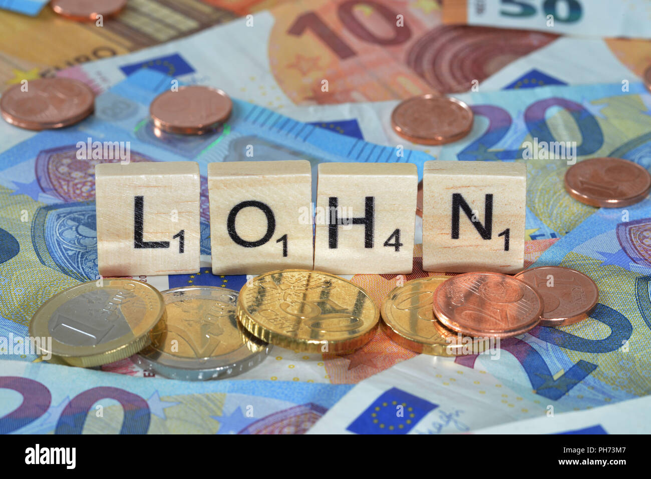 Symbolfoto Wirtschaftsbegriff Lohn Stock Photo