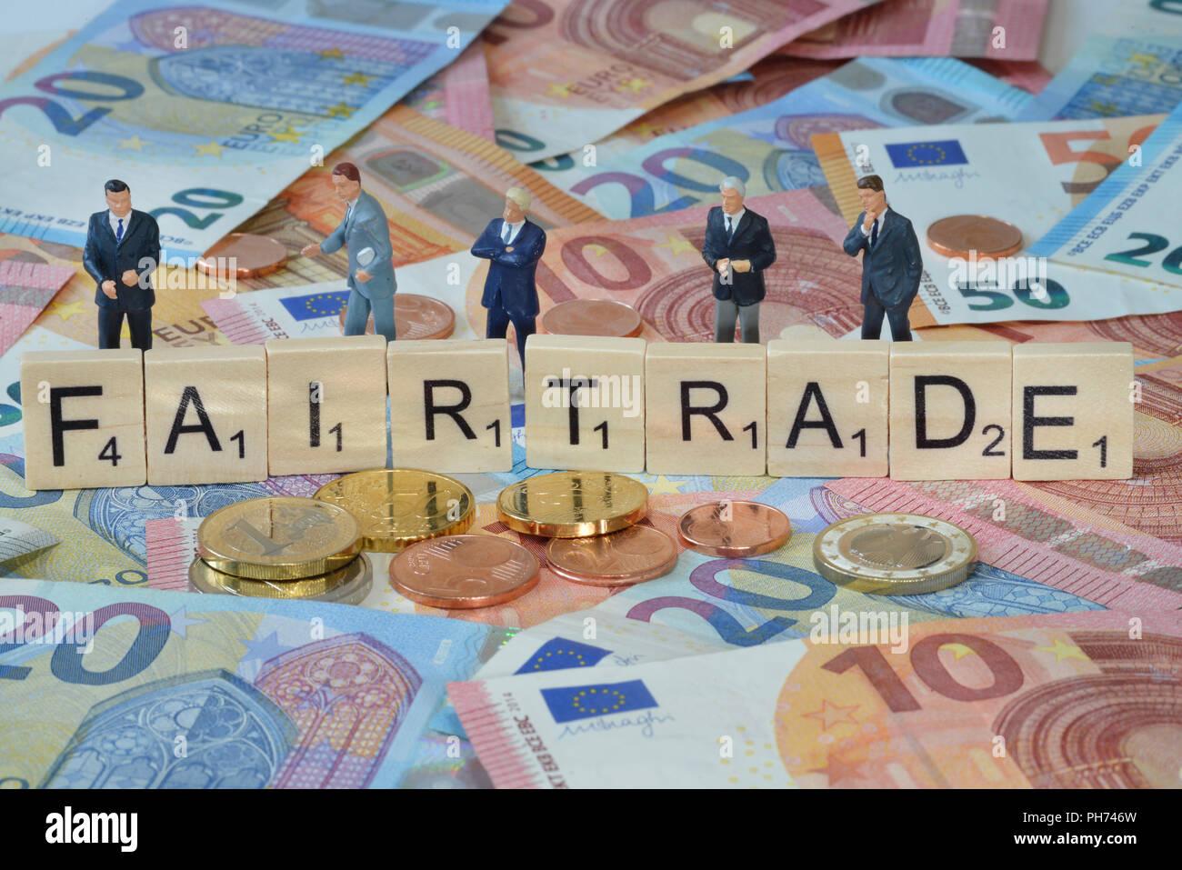 Symbolfoto Wirtschaftsbegriff Fairtrade Stock Photo