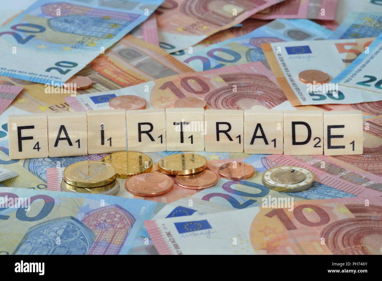 Symbolfoto Wirtschaftsbegriff Fairtrade - Stock Image