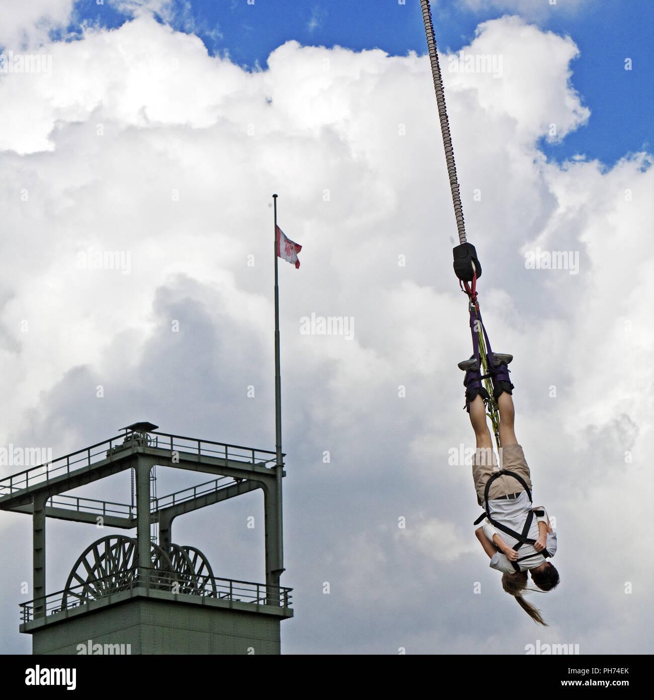 Bungee Jumping, Oberhausen, Germany Stock Photo
