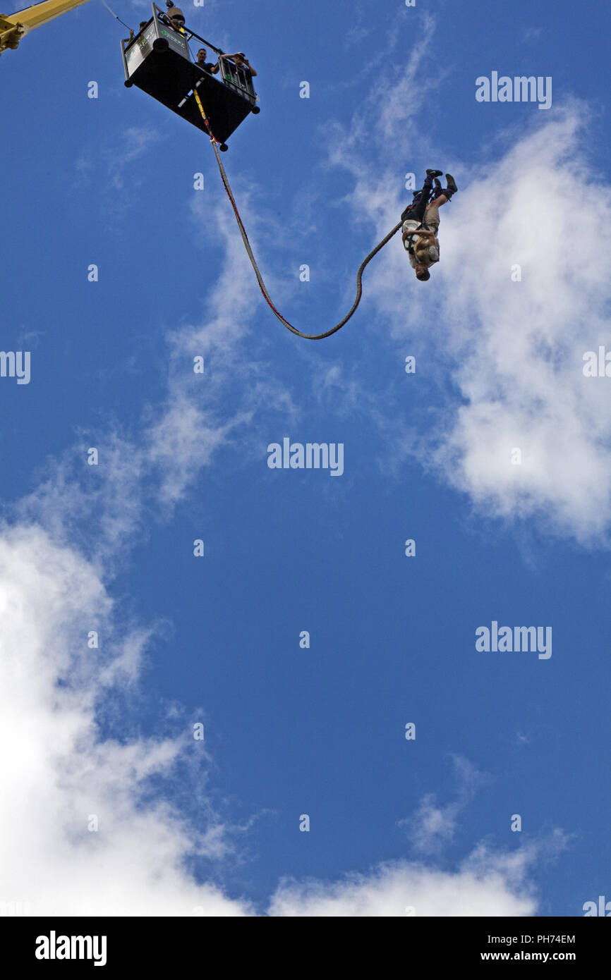 Bungee Jumping, Oberhausen, Germany - Stock Image