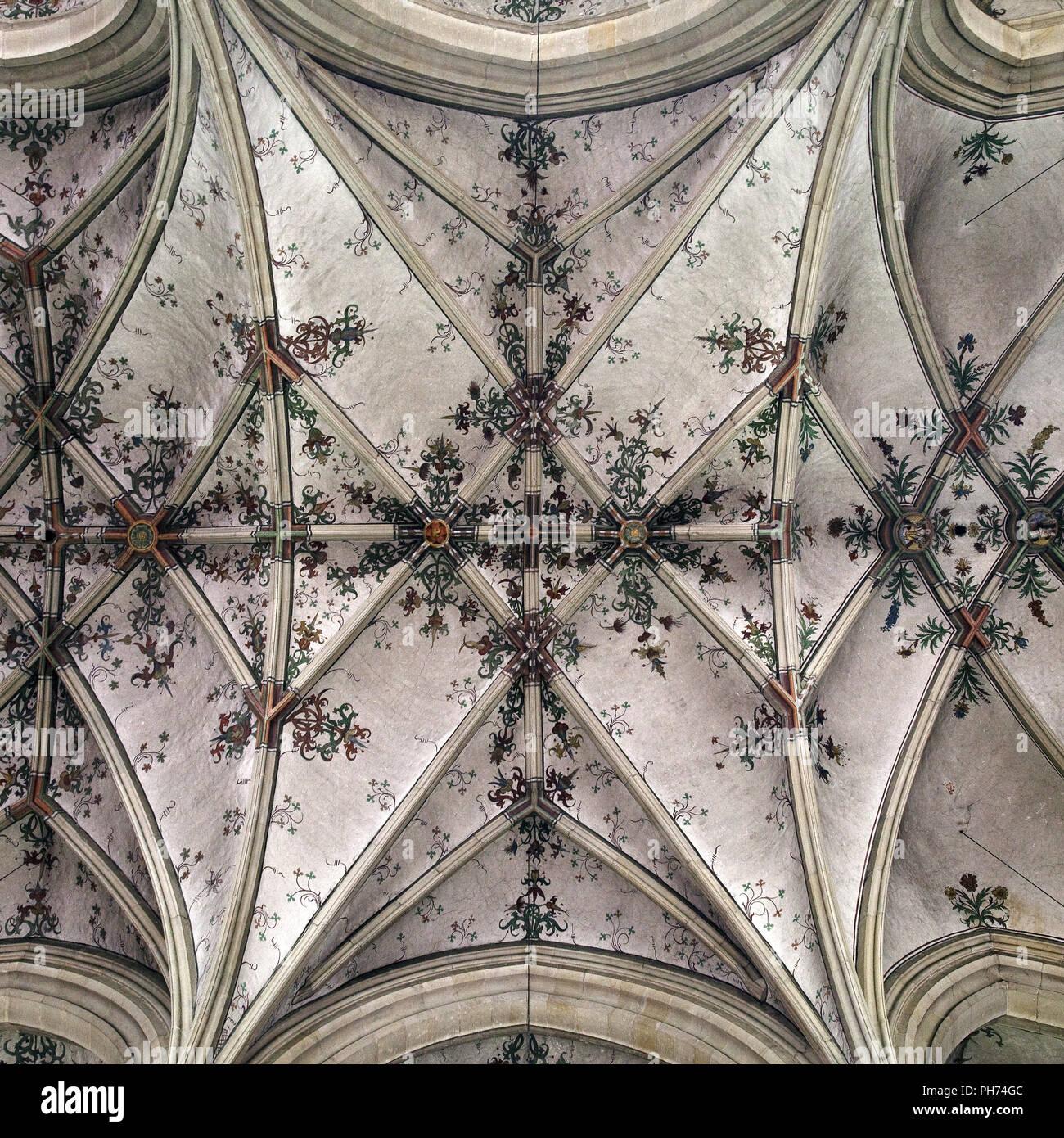 Ceiling, parish church, Nottuln, Germany - Stock Image