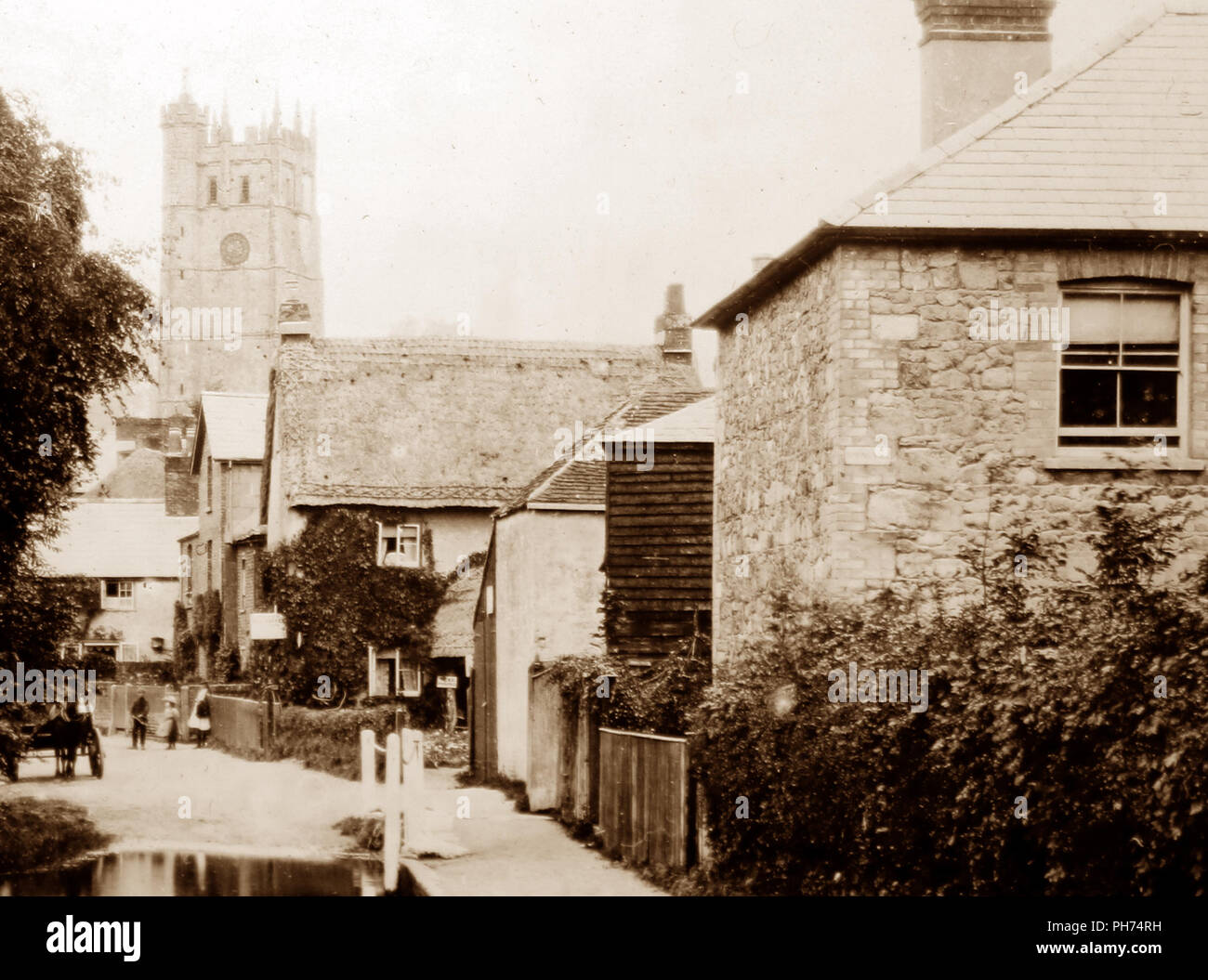 Carisbrooke, Isle of Wight, early 1900s - Stock Image