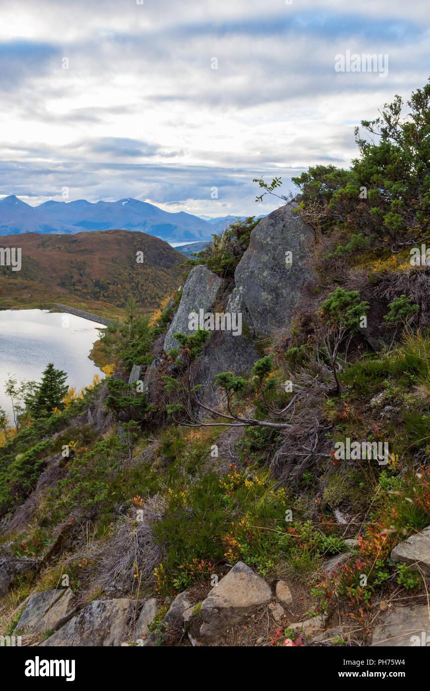Mountain scenery, Norway (near Volda) - Stock Image