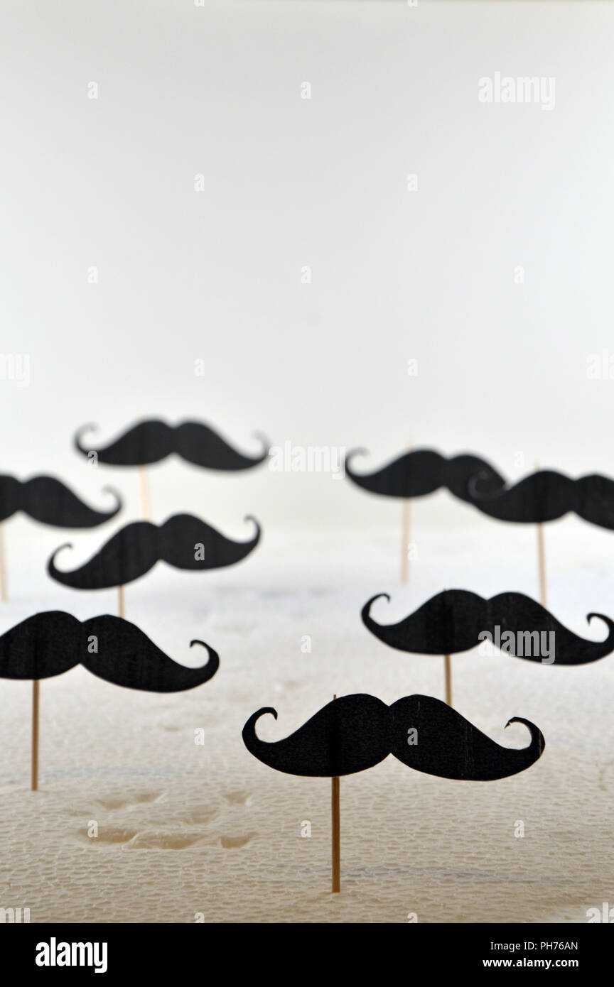 movember movement, black mustache group - Stock Image