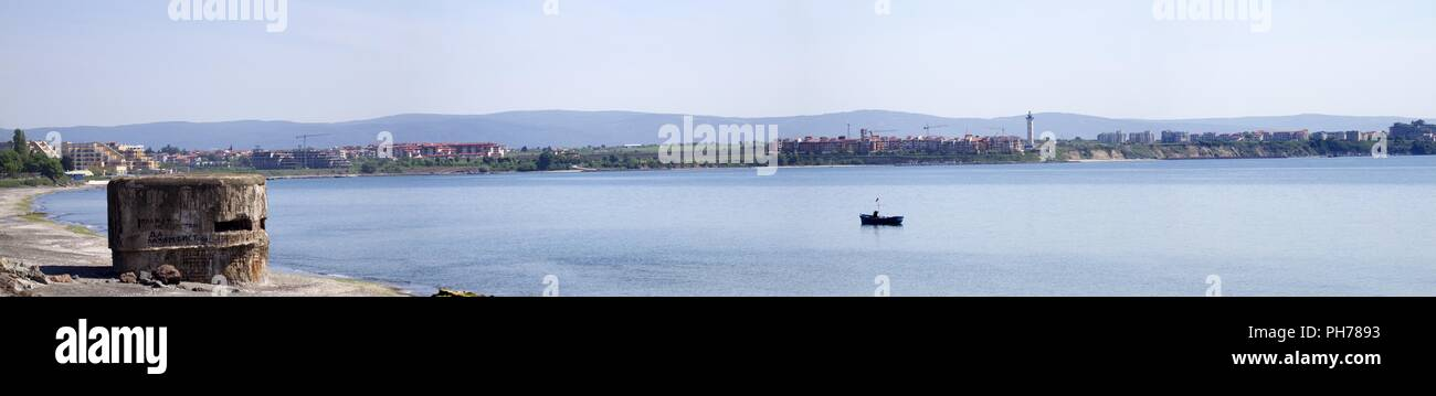 Atanasovsko Lake, Burgas, black sea coast, bulgaria - Stock Image