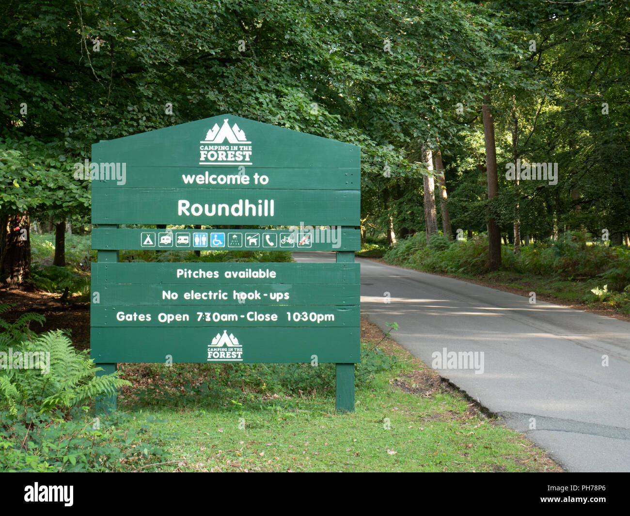 The Entrance To The Roundhill Camping And Caravan Site Near Brokenhurst In The New Forest Hampshire Uk Part Of The Camping In The Forest Chain Of Camp
