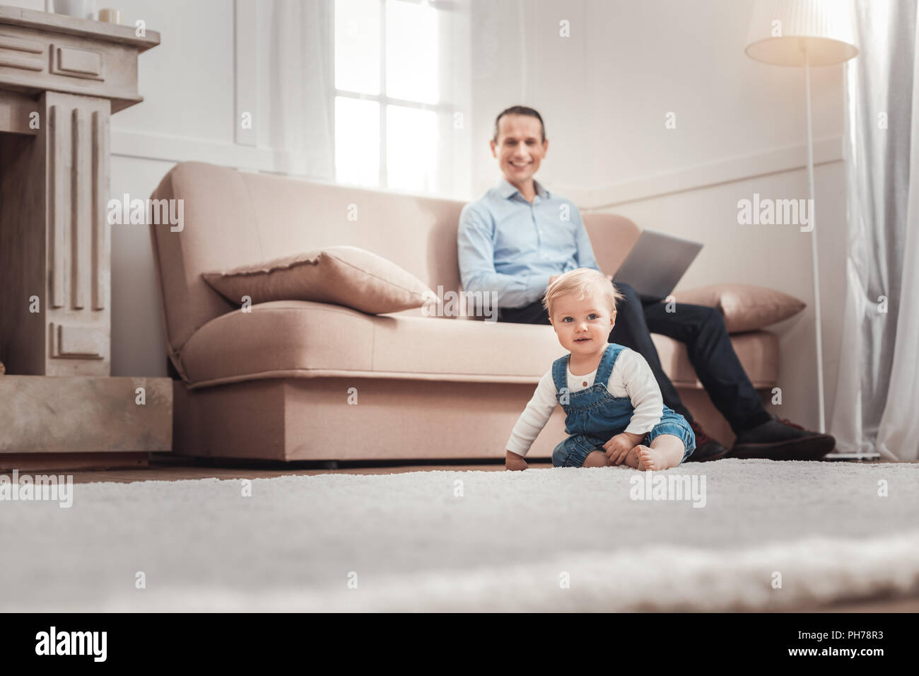Cheerful happy child smiling - Stock Image