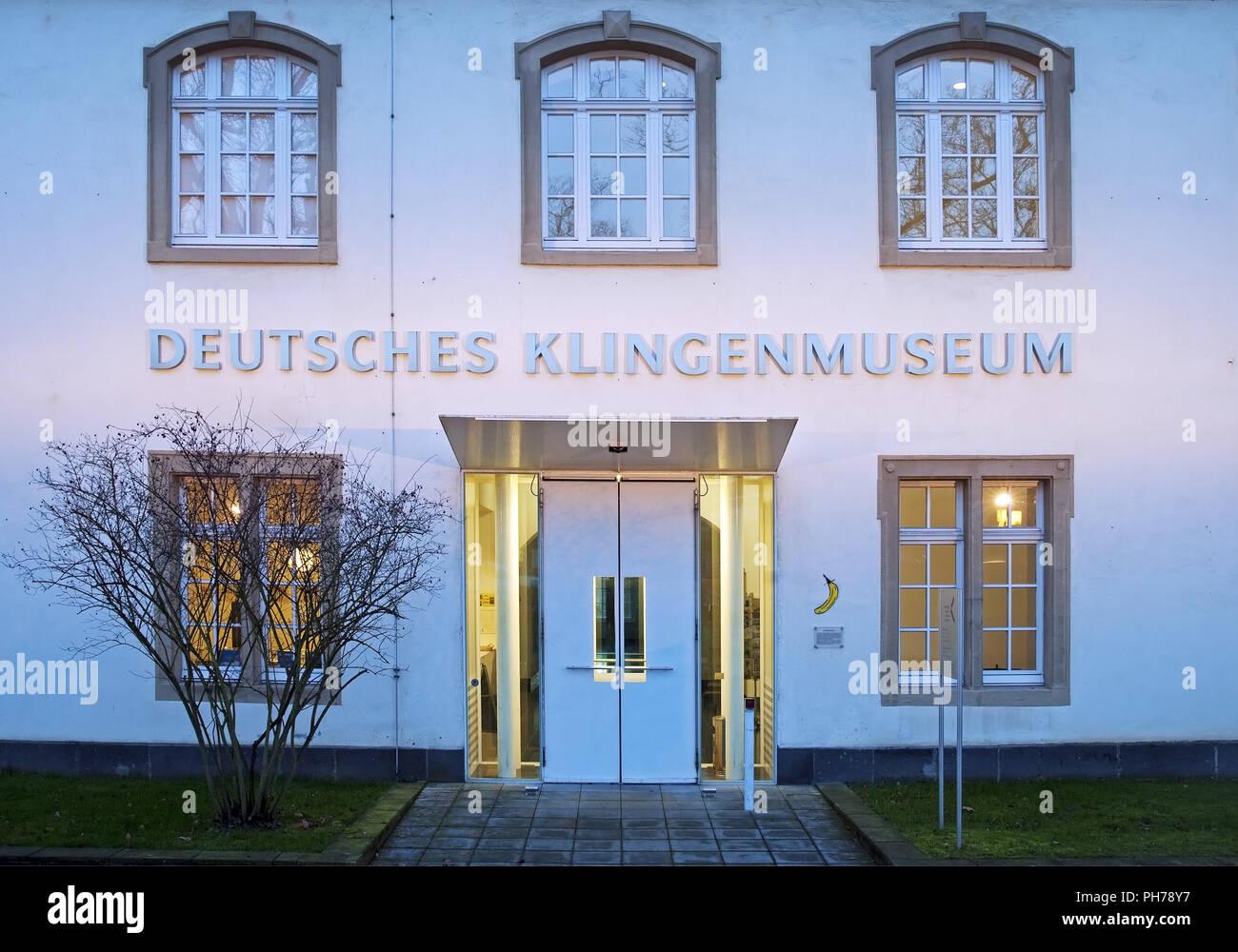 German Blade Museum, Solingen, Bergisches Land, North Rhine-Westphalia, Germany - Stock Image