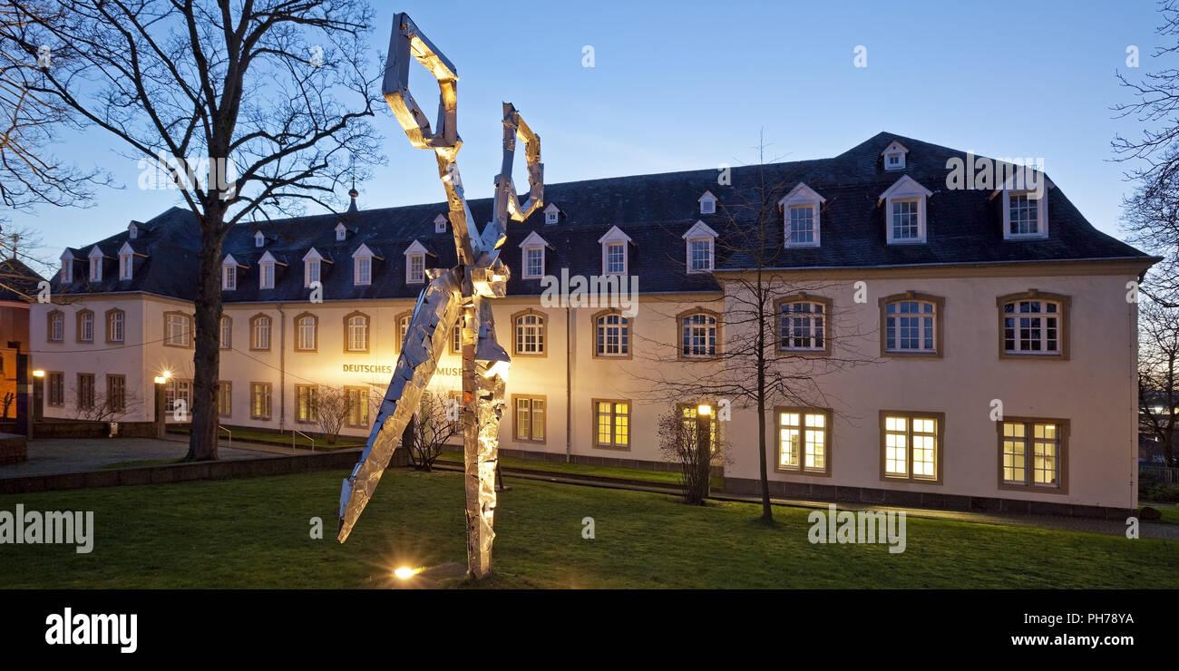 scissors sculpture in front of the German Blade Museum, Solingen, Germany Stock Photo