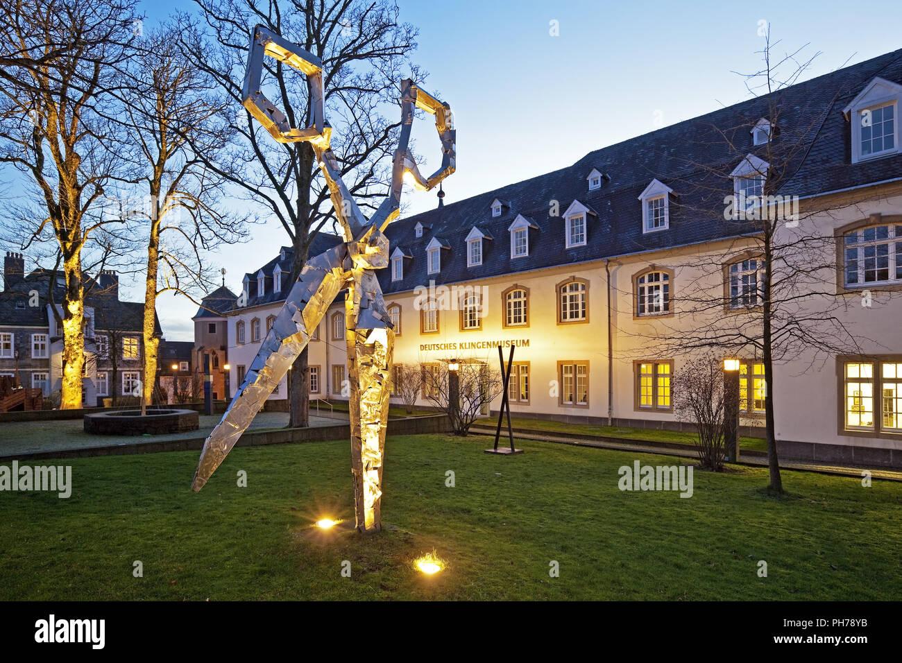 scissors sculpture in front of the German Blade Museum, Solingen, Germany - Stock Image