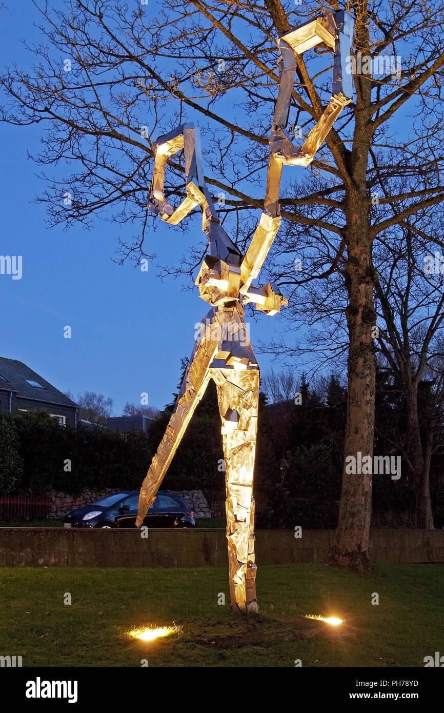 scissors sculpture at the German Blade Museum, Solingen, Bergisches Land, Germany - Stock Image