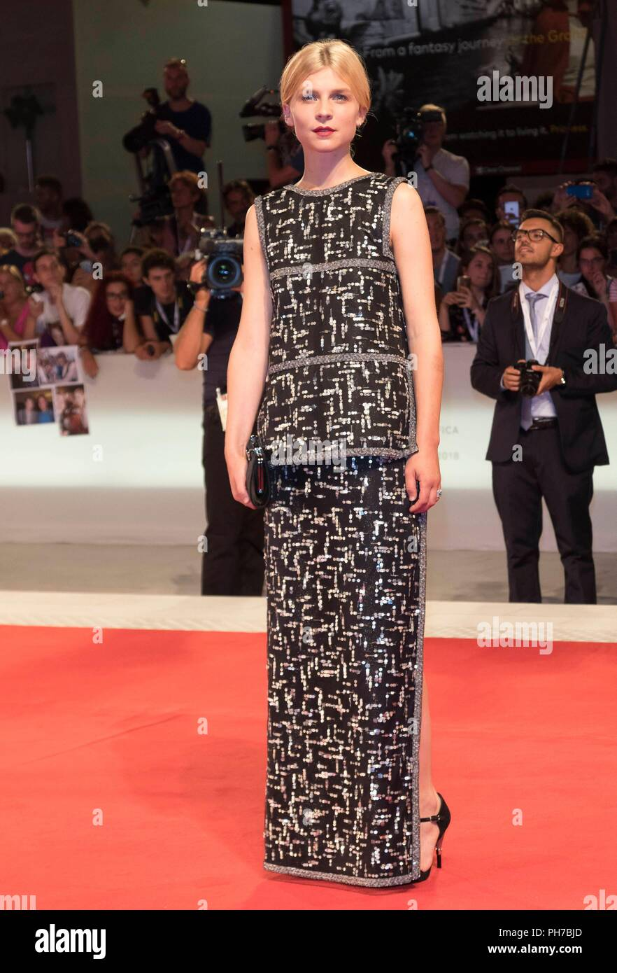 Venice, Italy. 30th Aug, 2018. Clemence Poesy attends the premiere of 'The Favourite' during the 75th Venice Film Festival at Palazzo del Cinema in Venice, Italy, on 30 August 2018. | usage worldwide Credit: dpa/Alamy Live News - Stock Image