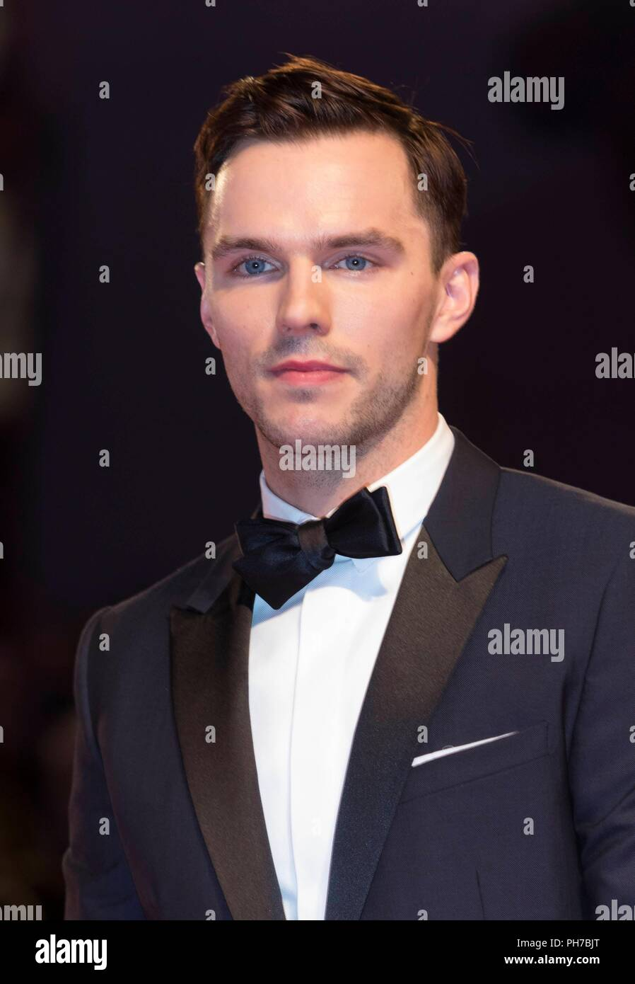 Venice, Italy. 30th Aug, 2018. Nicholas Hoult attends the premiere of 'The Favourite' during the 75th Venice Film Festival at Palazzo del Cinema in Venice, Italy, on 30 August 2018. | usage worldwide Credit: dpa/Alamy Live News - Stock Image