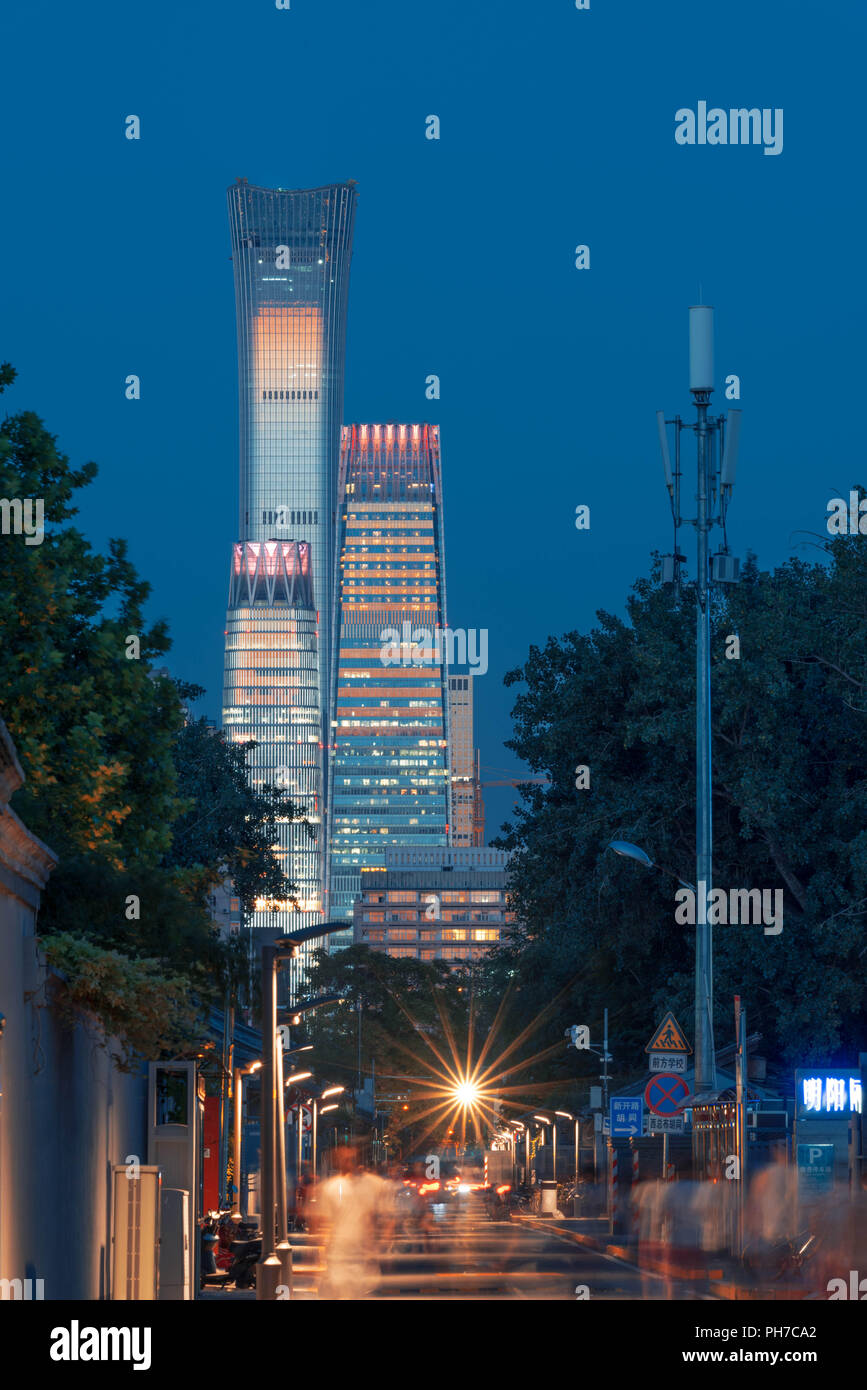 Beijing China 31st Aug 2018 Modern Old House Wiring Which Is Hot Skyscrapers And Houses Can Be Seen In Credit Sipa Asia Zuma Wire Alamy Live News