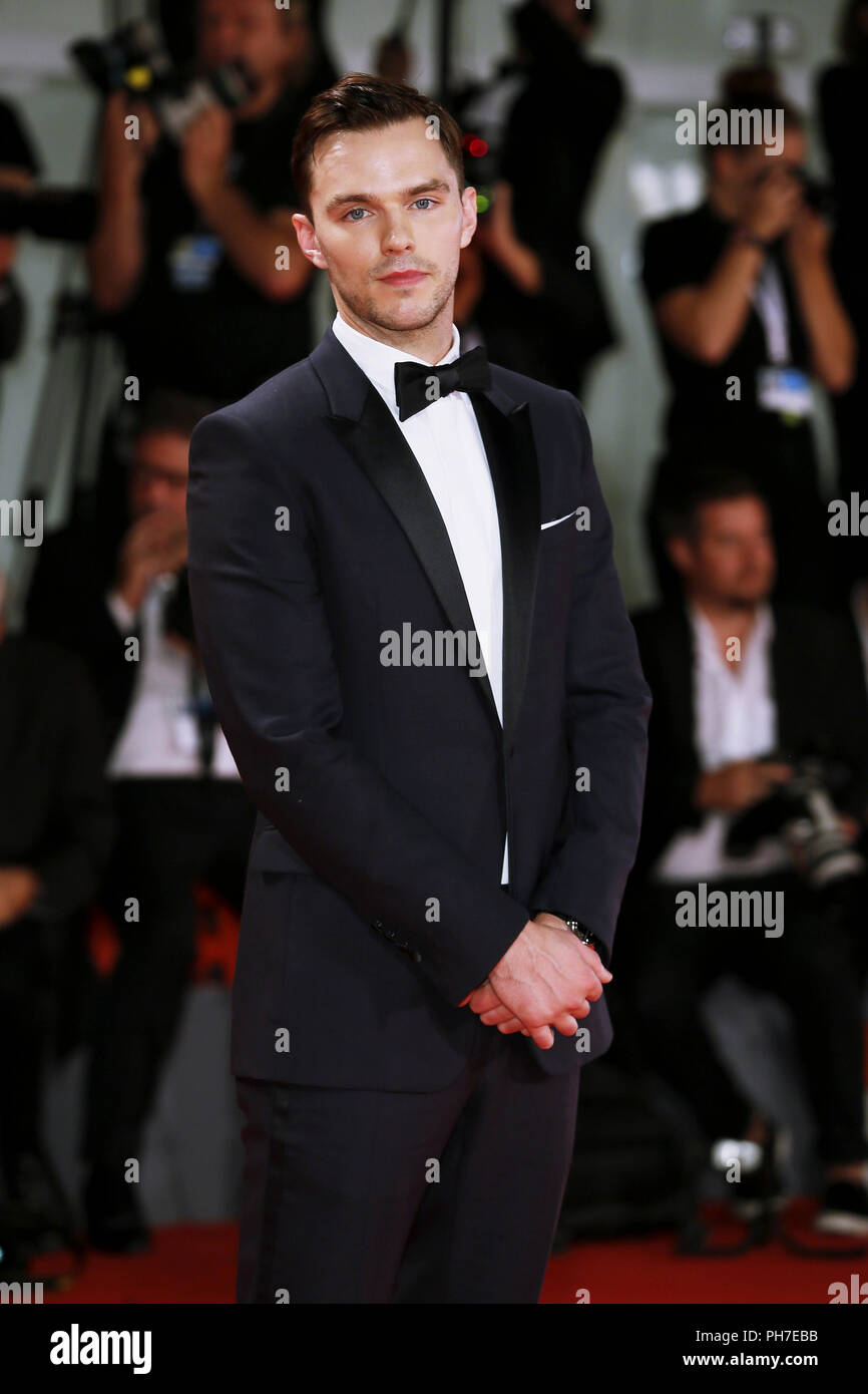 Venice, Italy. 30th Aug 2018. Nicholas Hoult attends the 'The Favorite' première on August 30, 2018 in Venice, Italy.(By Mark Cape/Insidefoto) Credit: insidefoto srl/Alamy Live News - Stock Image