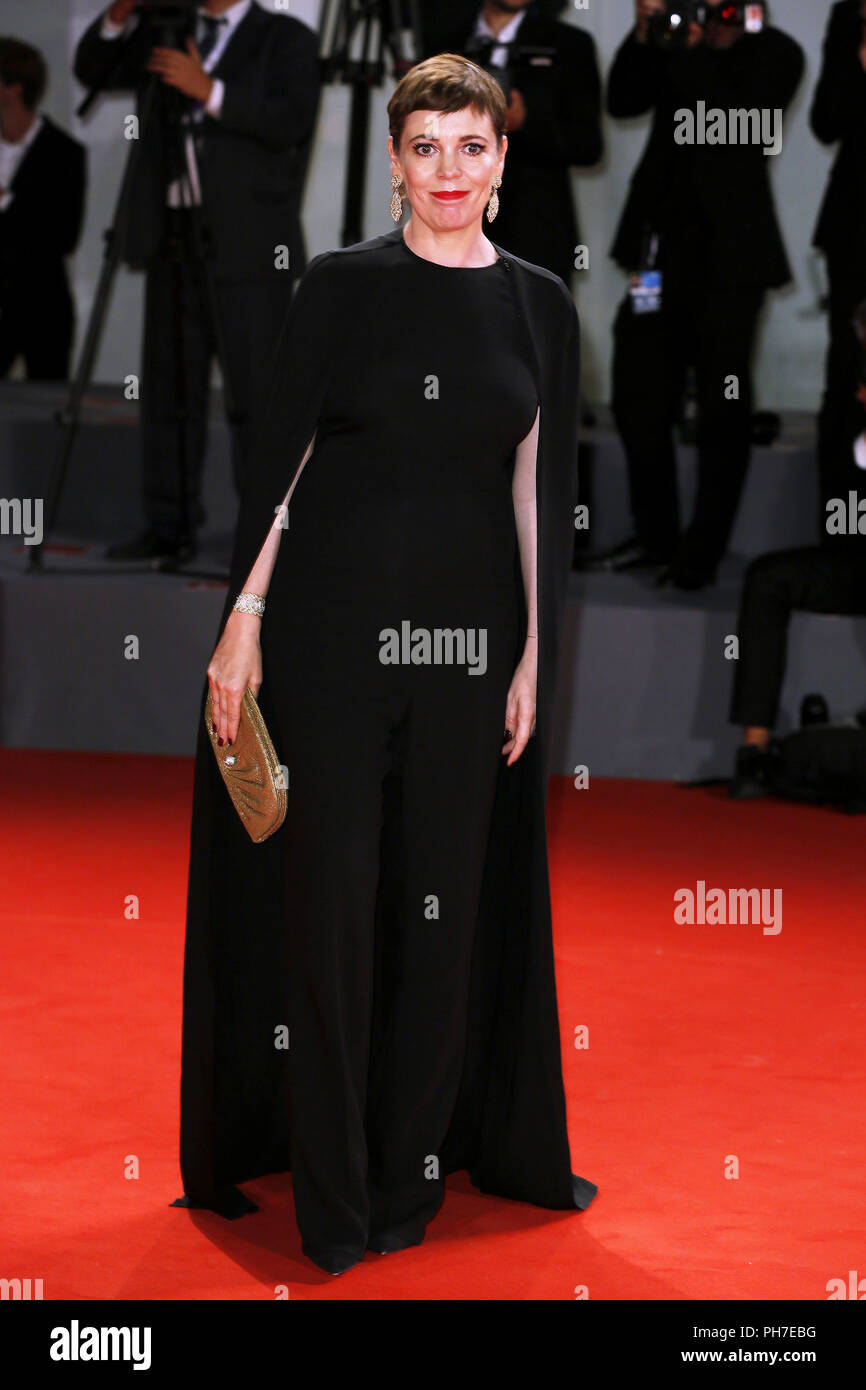Venice, Italy. 30th Aug 2018. Olivia Colman attends the 'The Favorite' première on August 30, 2018 in Venice, Italy.(By Mark Cape/Insidefoto) Credit: insidefoto srl/Alamy Live News - Stock Image