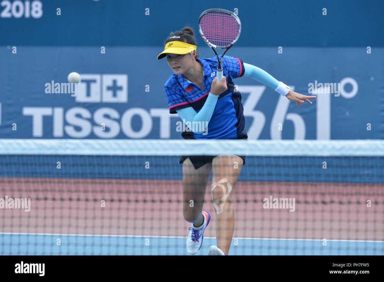 Palembang 31st Aug 2018 Yu Yuanyi Of China Competes During Soft