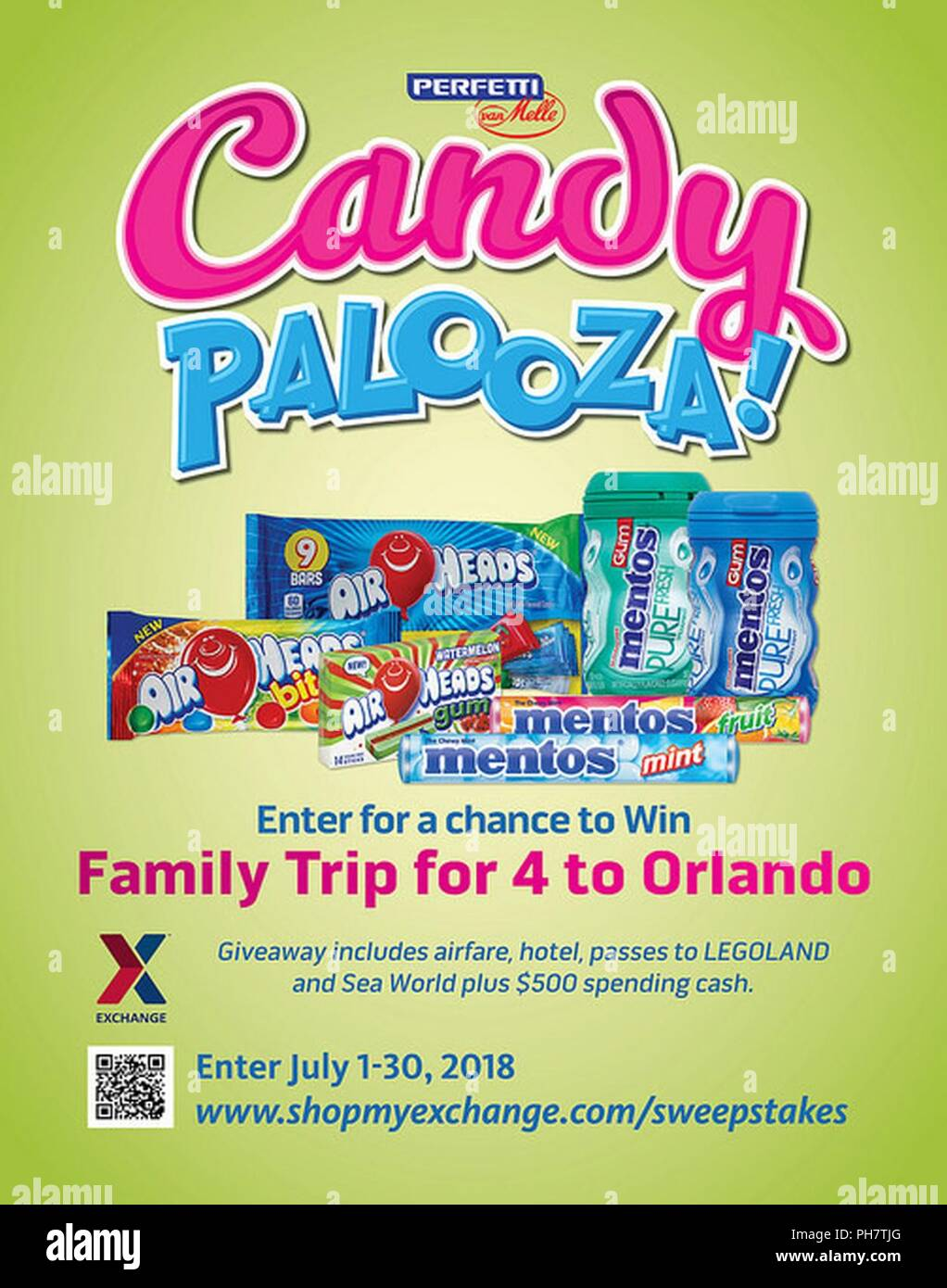 Enter the Perfetti Van Melle Candy Palooza Sweepstakes for a