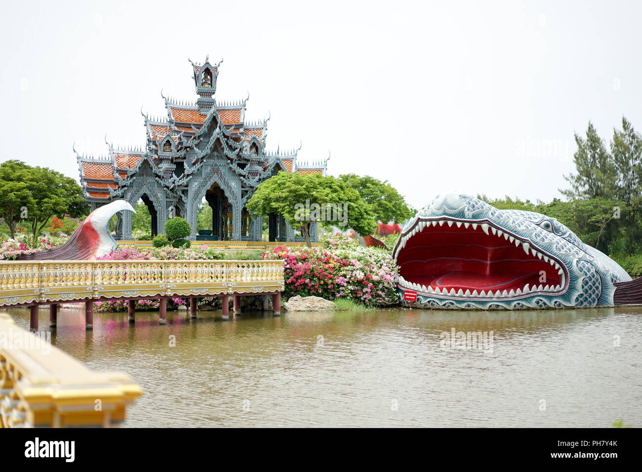 Traditional Thai Temple Roof Design Stock Photos