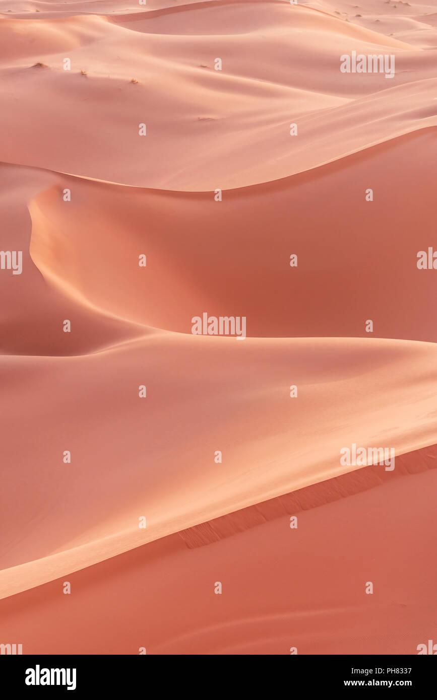 Sand dunes, Erg Chebbi, Merzouga, Sahara desert, Morocco - Stock Image