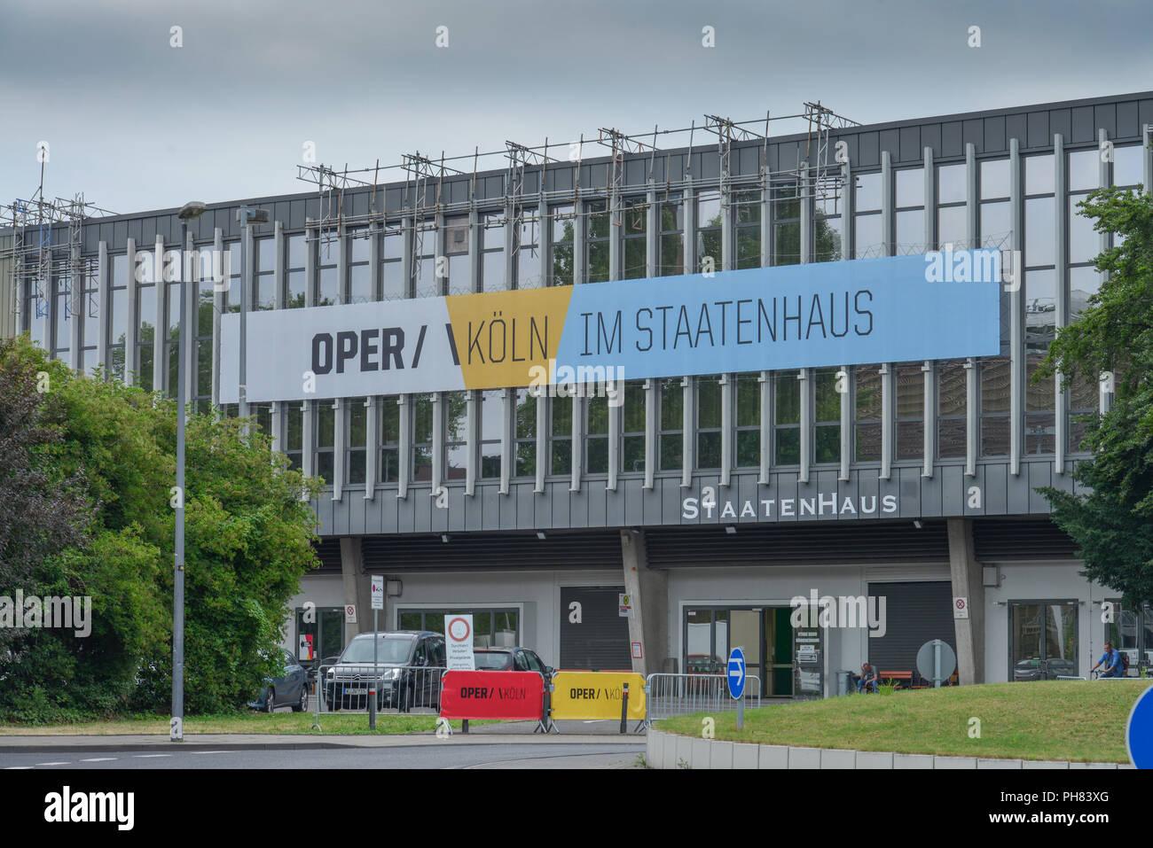 Oper, Staatenhaus, Rheinparkweg, Deutz, Koeln, Nordrhein-Westfalen, Deutschland - Stock Image