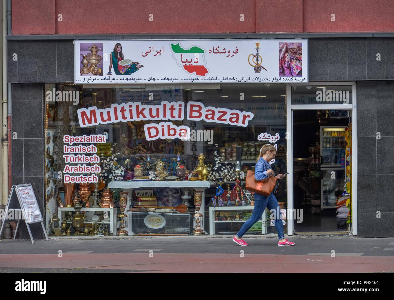 Multikulti-Bazar, Neusser Strasse, Nippes, Koeln, Nordrhein-Westfalen, Deutschland Stock Photo