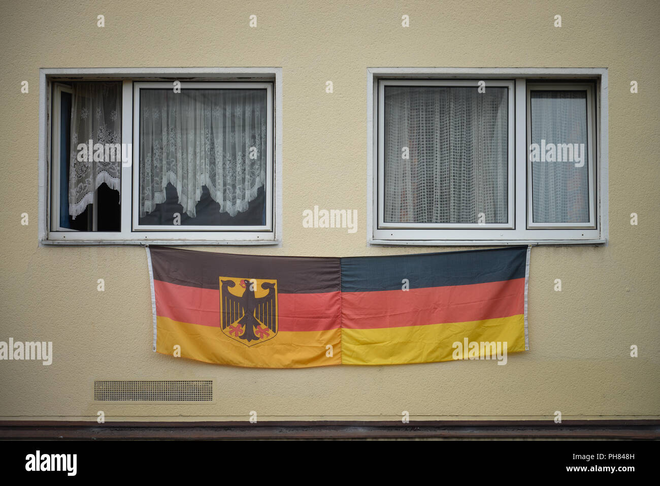 Deutschland-Fahne, Nippes, Koeln, Nordrhein-Westfalen, Deutschland Stock Photo