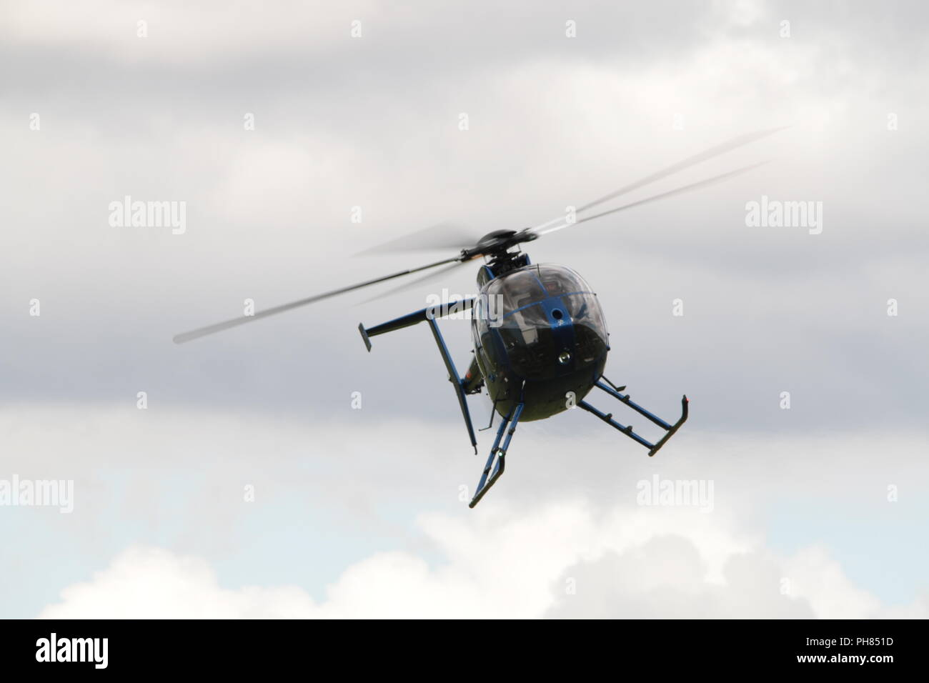 Helicopter coming in to land - Stock Image