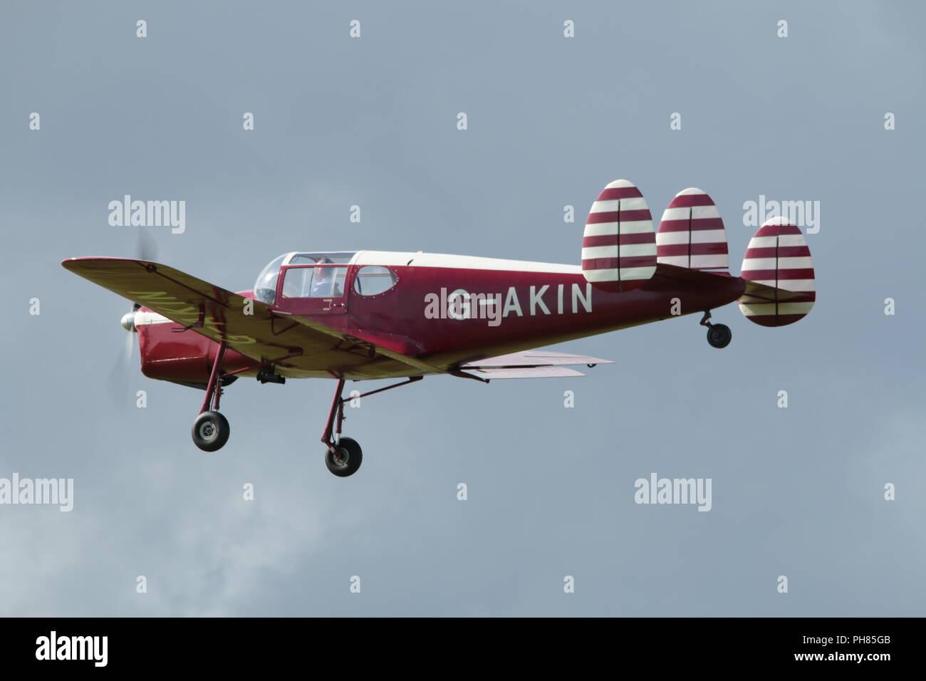 airplane G-AKIN - Stock Image