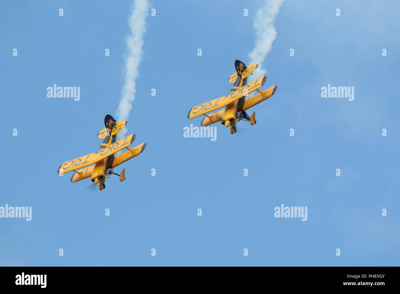 bi-plane display - Stock Image