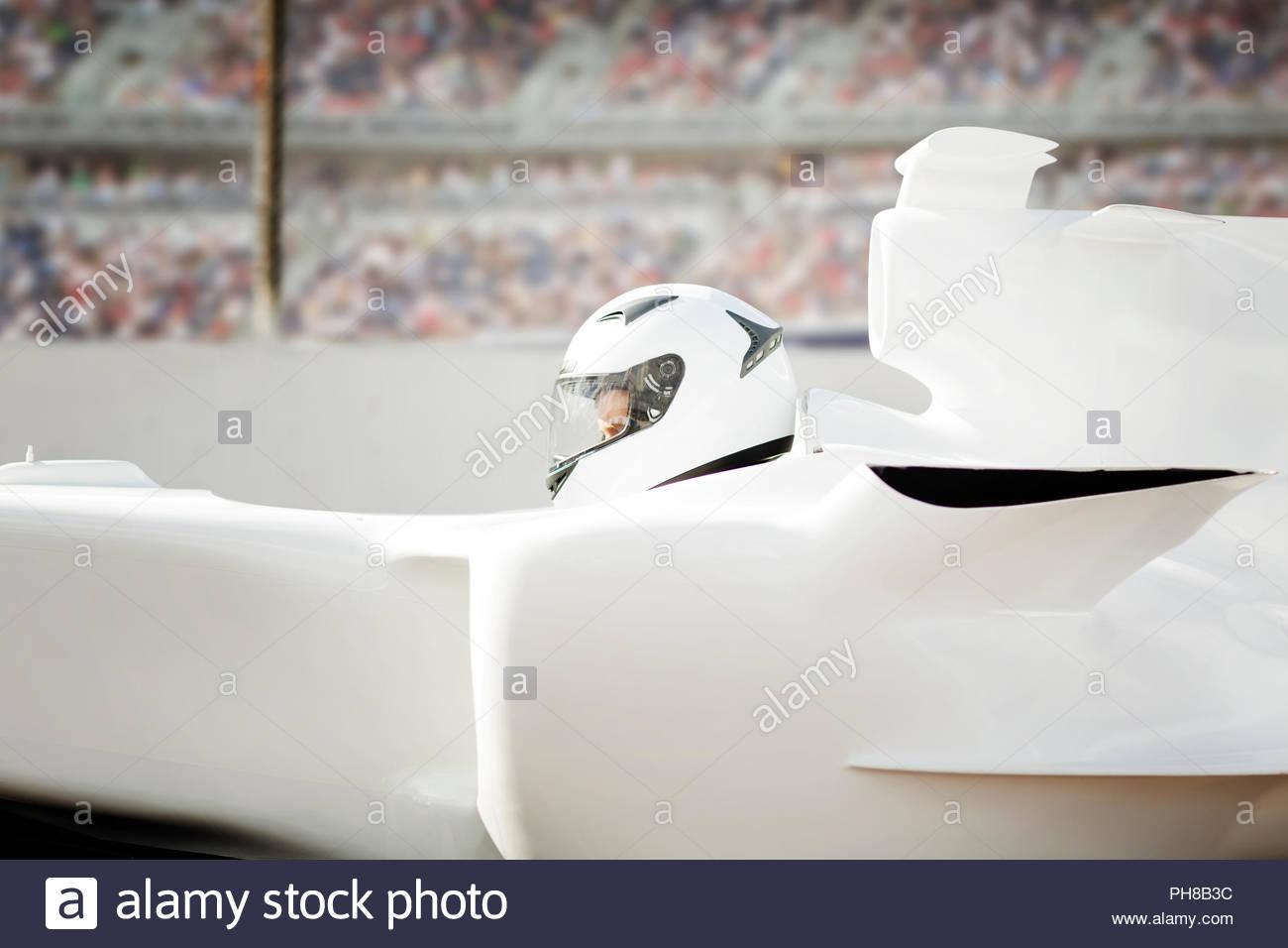 Racing Driver on Track - Stock Image