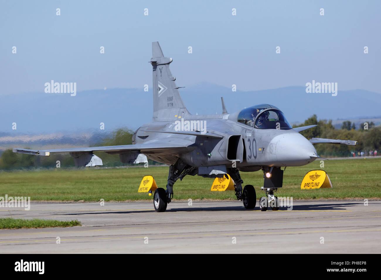 CIAF 2013: JAS39 Gripen der ungarischen Luftwaffe. Stock Photo