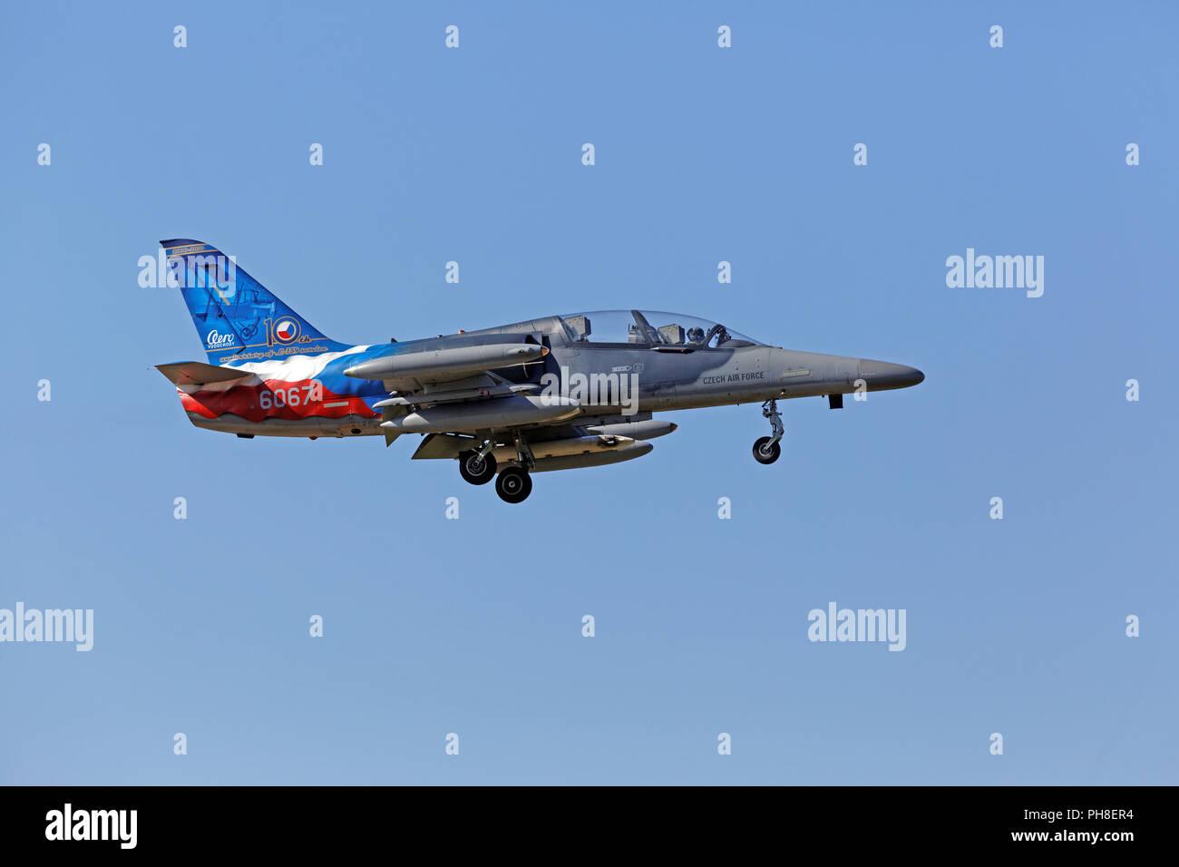 CIAF 2013: Aero L-159 der tschechischen Luftwaffe. Stock Photo