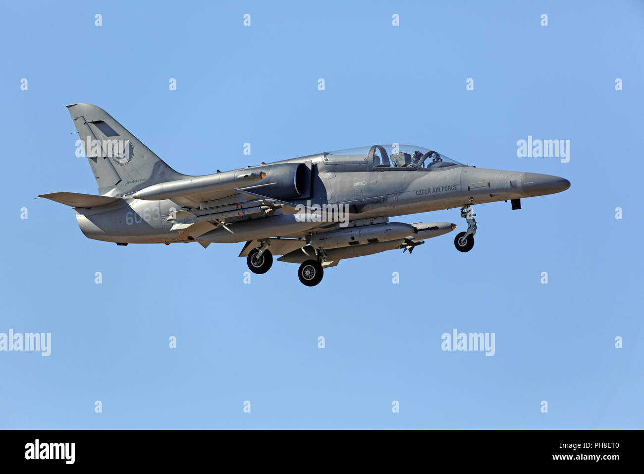 20. CIAF 2013: Aero L-159 der tschech. Luftwaffe. Stock Photo